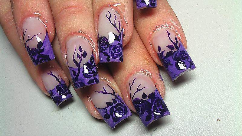 Как нарисовать красиво контур ногтя