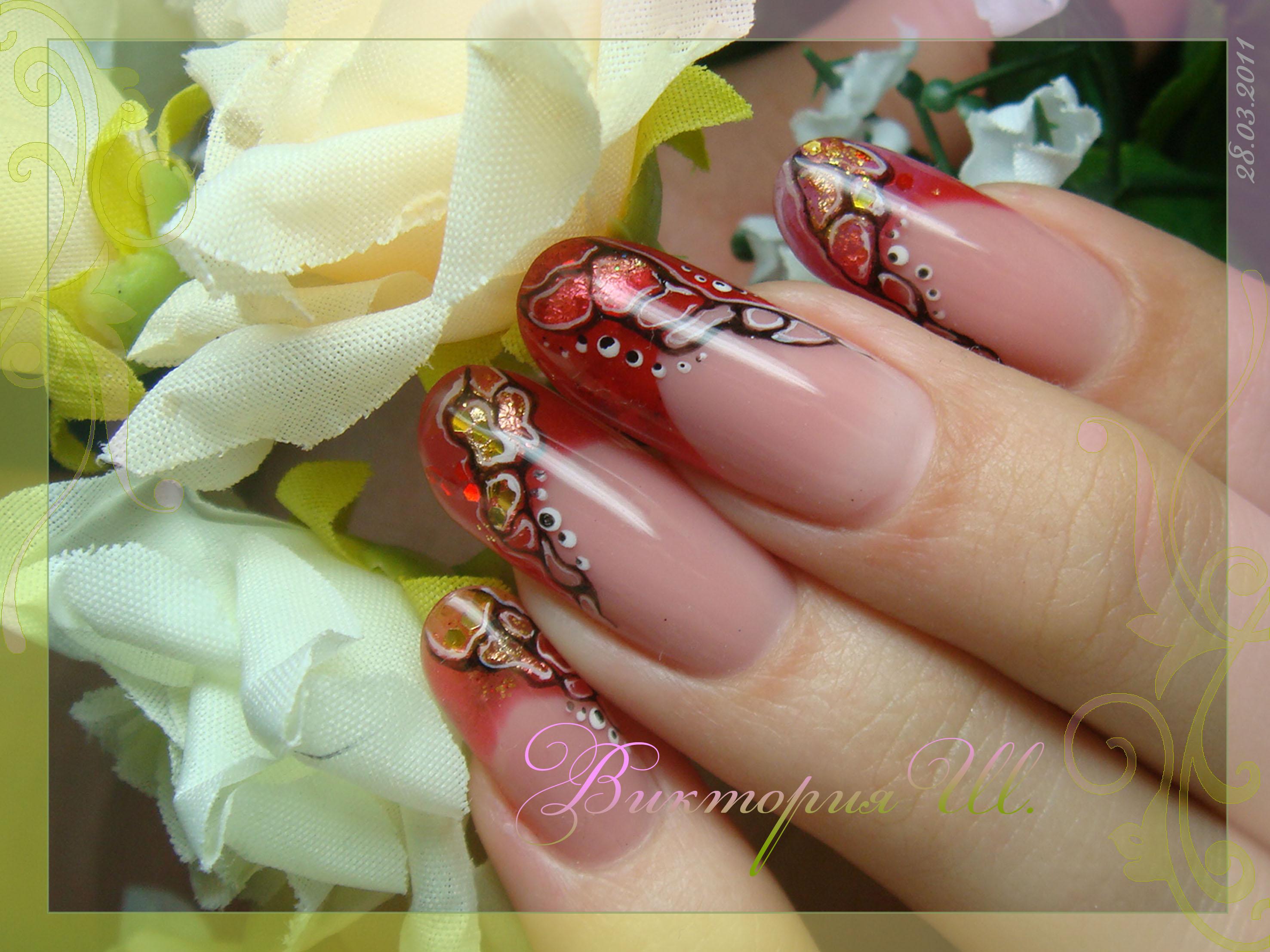 Ногти дизайн фото с орхидеей