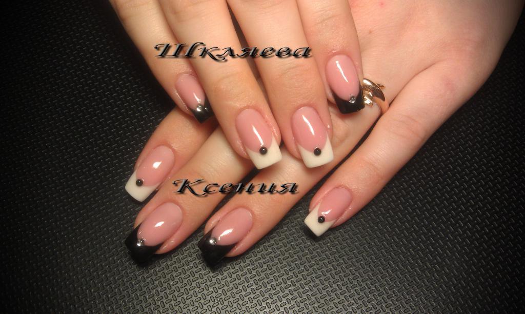черно-белый френч.  Ксения91'я Profile.