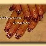 коричневый витраж by Ксения91 in Френч