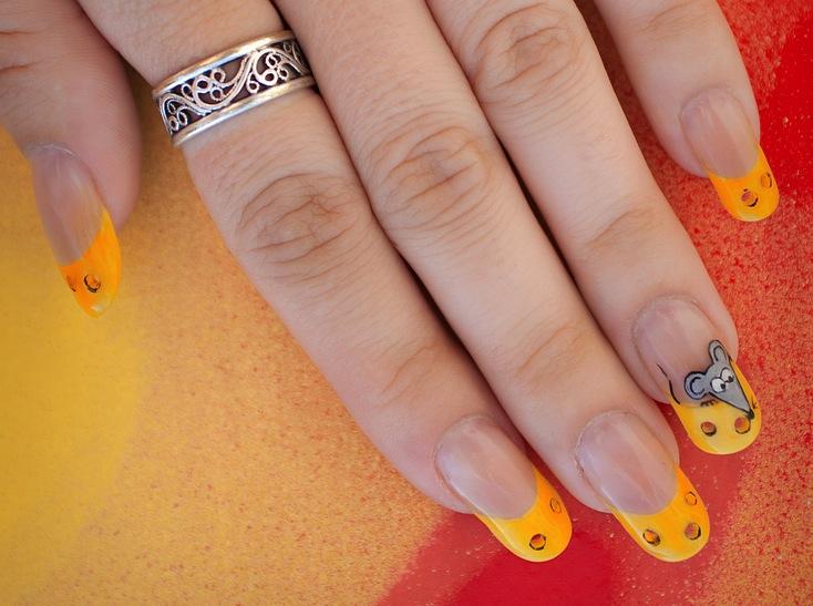 сырные ногти by Detsibelochka in Акриловый дизайн